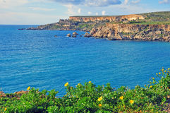 Malta on summer. Mediterranean landscape Royalty Free Stock Photo