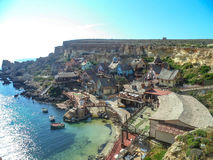 Malta in summer. Malta popeye village summer fanous Stock Photos