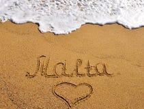 Malta summer time. Malta summer sand beach background Stock Photography