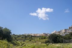 Malta Swieqi North region town countryside view. Swieqi is a town in the Northern Region of Malta. It is a residential area just 15 minutes by bus from Sliema Royalty Free Stock Image