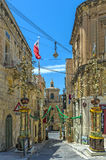 Malta - Three Cities. Collacchio, the most atmospheric district in the three historic cities of Vittoriosa (Birgu), Senglea (Bormla) and Cospicua (Isla) Stock Photos