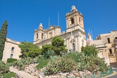 Malta, Three Cities, Landscape of Middle Ages architecture in L-Isla, Valletta. Scenic landscape of Middle Ages architecture in L-Isla, one of the Three Cities stock photos