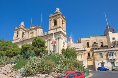Malta, Three Cities, Scenic landscape of Medieval architecture in L-Isla, Valletta. Scenic landscape of Medieval architecture in L-Isla, one of the Three Cities Royalty Free Stock Photo