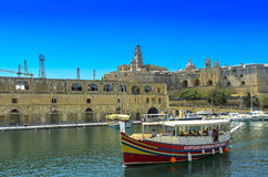 Malta - Boat water-taxi  Royalty Free Stock Photography