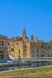Malta - Three Cities. View of Cospicua (Isla) from Vittoriosa (Birgu) - Malta Royalty Free Stock Images