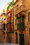 Malta: Traditional architecture of historic houses in Valetta. Traditional architecture of historic houses in Valetta on Malta Islands Stock Photography