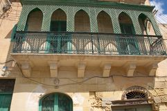 Malta - Traditional balcony, typical for Gozo Island royalty free stock images