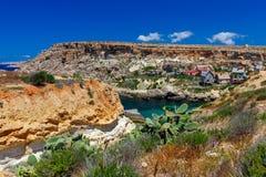 Malta. Typical coastline landscape. A typical landscape on the coast of Malta Royalty Free Stock Photos
