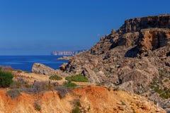 Malta. Typical landscape. A typical landscape on the coast of Malta Stock Photo