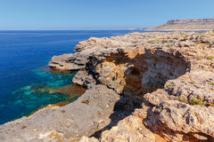 Malta., Typical, landscape. A typical landscape on the coast of Malta Royalty Free Stock Images
