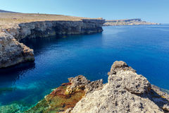 Malta., Typical, landscape. A typical landscape on the coast of Malta Royalty Free Stock Photography
