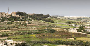 Malta. Typical panorama of Malta in the middle of the island Royalty Free Stock Images