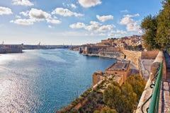 Malta - Valletta Arkivfoto