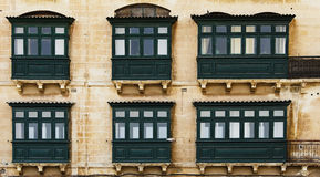Malta, Valletta. Typical building in Valleta, Malta Stock Image