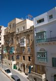 Malta, Valletta, Beautiful, typical architecture of the Old Town royalty free stock photo
