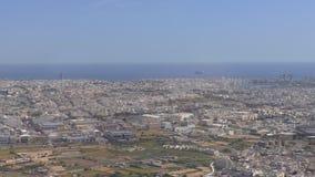 Malta, Valletta city aerial view stock video