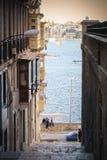 Malta, Valletta. Europe. People standing near the sea Royalty Free Stock Image