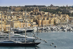 Malta Valletta harbor Royalty Free Stock Image