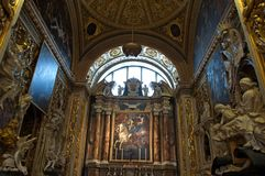 Malta, Valletta, Oratory in St John Co-Cathedral Royalty Free Stock Photo