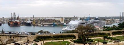 Malta Valletta, port Arkivbilder