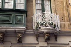 Malta Valletta city balcony Stock Photography