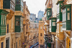 Malta - Valletta. Street view of Valletta, the Maltese capital Royalty Free Stock Photos