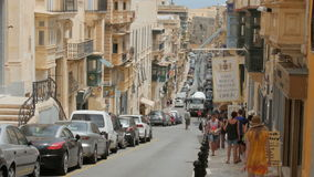 Malta, Valletta, 3th of July 2016. Museum Casa Rocca Piccola, the view from the street. Day stock video footage