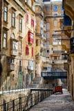 Malta - Valletta. Typical Maltese covered balconies in Valletta Stock Photography