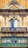 Malta - Valletta. Typical Maltese covered balconies in Valletta Royalty Free Stock Images