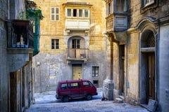 Malta - Valletta. Typical Maltese covered balconies in Valletta Royalty Free Stock Photos