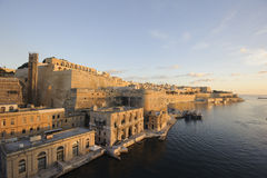 Malta, Valletta 1. Wonderful view of the city in the light of the rising sun in the morning hour Royalty Free Stock Photos