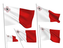 Malta vector flags Stock Images