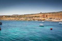 Malta, vew van het overzees Royalty-vrije Stock Fotografie