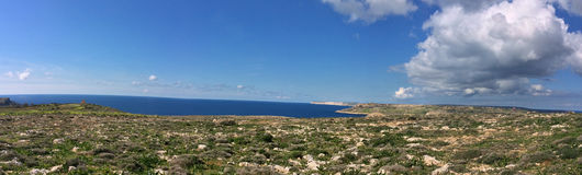 Malta View. Amazing landscape sky, clouds, sea Royalty Free Stock Photos
