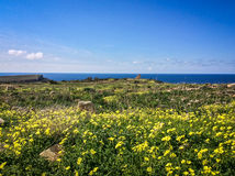 Malta View. Amazing landscape sky, clouds, sea Royalty Free Stock Photo