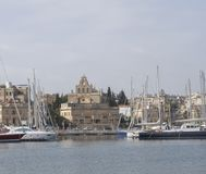 Malta view of Gzira town from Manoel Island. The area is one of most touristy in Malta Royalty Free Stock Photos