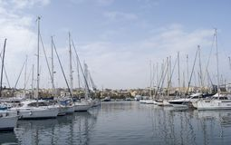 Malta view of Gzira town from Manoel Island. The area is one of most touristy in Malta Royalty Free Stock Photo