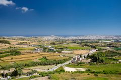Malta view from Mdina. Clear day Royalty Free Stock Photo