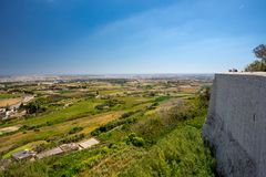 Malta view from Mdina. Fortress Stock Image