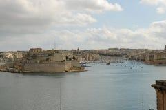 Malta: The view over the harbour of Valetta to Vittoriasa. And Senglea Stock Photos