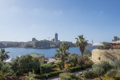 Maltese islands - view of St. Julians bay. Malta - view of St. Julians bay from Sliema Stock Photos