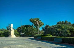 Malta - Views of Floriana. ANZAC Memorial, unveiled on the 25th May 2013, commemorates the thousands of Australian and New Zealander servicemen and women killed Royalty Free Stock Photo