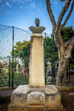 Malta - Views of Floriana. Bronze bust of King George V unveiled in July 1939 - King George V Gardens, Floriana, Malta Stock Photos