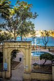 Malta, Views of Floriana. Entrance gate to the King George V Gardens, Floriana, Malta Royalty Free Stock Photos