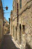 Malta - Gozo, Victoria. Charming narrow street in the capital of Gozo, Victoria, Rabat, Malta Stock Image