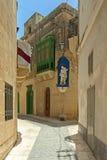 Malta - Gozo, Victoria. Charming narrow street in the capital of Gozo, Victoria, Rabat, Malta Stock Photos