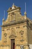 Churches of Malta - Gozo, Victoria. The church of the St Francis in the capital of Gozo, Victoria, Rabat, Malta Stock Image