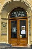 Malta - Gozo, Victoria. Entrance to the Citadel Theatre in the capital of Gozo, Victoria, Rabat, Malta Stock Photography