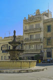 Malta - Gozo, Victoria. St. Francis Square, a historic center of the capital of Gozo, Victoria, Rabat, Malta Royalty Free Stock Photos