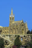 Churches of Malta - Gozo, Mgarr. The 20th-century neo-Gothic Church of Our Lady of Lourdes, Mgarr, Gozo, Malta Royalty Free Stock Photo